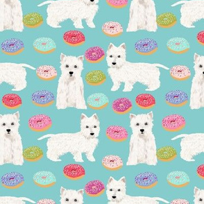 westie donuts fabric west highland terriers fabric cute donuts dog fabric cute westies fabric west highland terriers