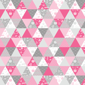Pastel Potter Triangles - Pink & Gray