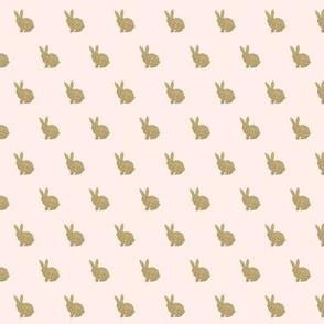 Mini Gold Bunnies on pink