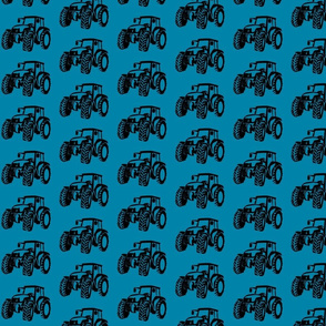 Tractors Blue with black