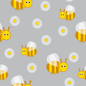 Bees and daisies