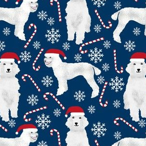 poodle peppermint sticks candy canes cute poodles dogs fabric cute snowflakes poodles fabric cute dogs fabric
