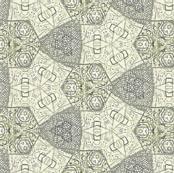 Hex triad lace in warm gray