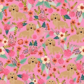 floral doxie dachshunds fabric cute doxie design cute florals dogs fabric