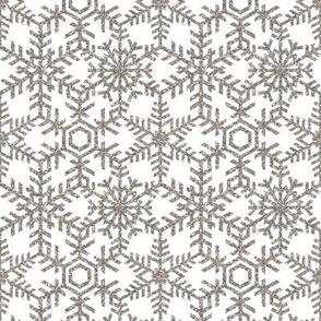 Snowflakes Web White Silver