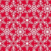 Snowflakes Web White Red