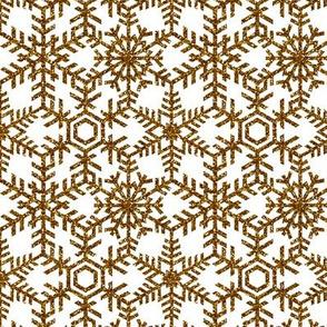 Snowflakes Web White Gold
