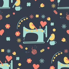 Love sewing (grey backround)