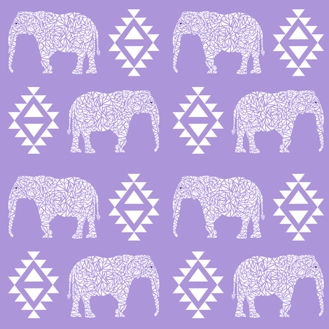 Elephant nursery purple aztec geo geometric sweet baby for Purple baby fabric