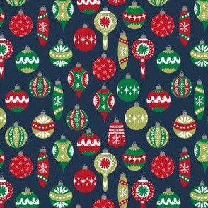 vintage christmas ornaments // retro christmas fabric cute red and green fabrics andrea lauren design andrea lauren fabric