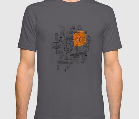 Spoonflower T shirt Orange Mix