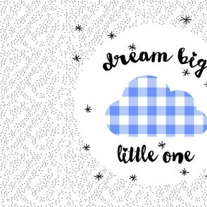 Dream_Big_Gingham_Marine_Blue_Pillow_Panel