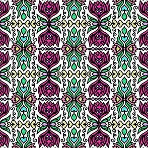 Project 162 | Stained Glass | Fuchsia Pink Lillies