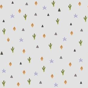 Fox / Wild One Aztec Print in Grey