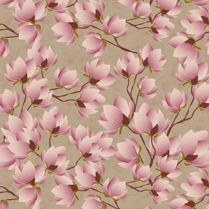magnolia branch faded green