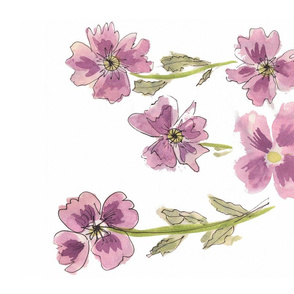 Lavender Watercolor Poppies