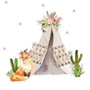 Fox Floral  / Wild One - Girls