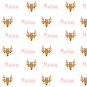 fox personalized fabric baby nursery marin baby cute girls personalised fabric