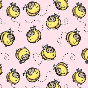 """Busy Bees pink 1.5"""""""