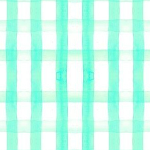 gingham watercolor turquois
