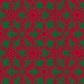 Snowflakes Web Red Green