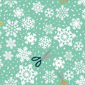 Paper snowflakes  green