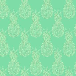 pineapple beige on aqua
