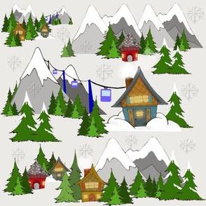 Alpine Lodge Gift Wrap