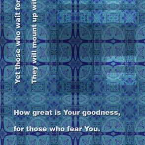 Blue plaid Bible promises