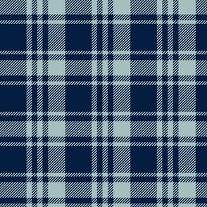 fall plaid || dusty blue and navy - happy camper wholecloth coordinate fabric