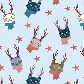 Christmas Winter Hipster Snow Kittens Cats Kittys