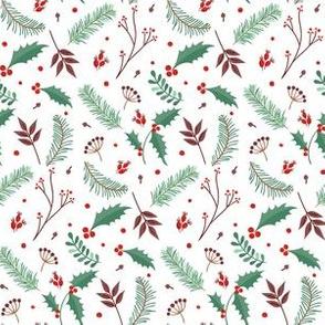 Poinsettia Mistletoe Christmas Winter Holidays