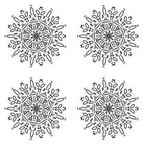 Snow flower, blackandwhite