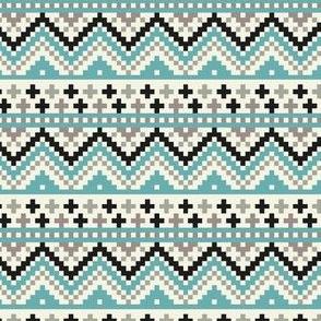 Digital Winter Sweater Snowflake Pattern