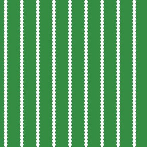 Holiday Hexies Green Stripe