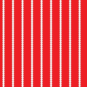 Holiday Hexies Red Stripe