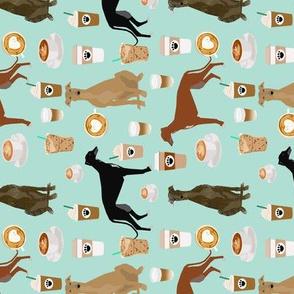 cute greyhounds mint coffee fabric best coffees latte fabric cute coffee fabric coffee fabric rescue greyhounds fabric