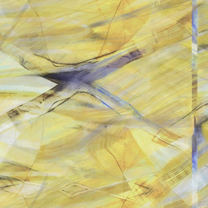 Mustard yellow blue abstract