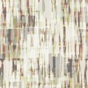 crowd in rain abstract art