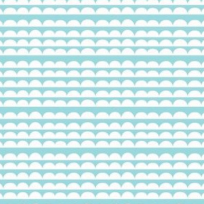 In the mountains coordinate- blue // scallops semi circles cloud edging co-ordinate-ch