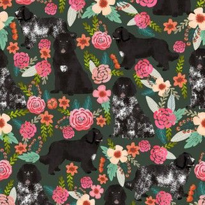 newfoundlands dogs landseer and black newfoundlands cute dogs fabric cute florals