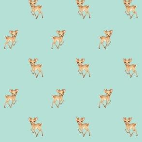 Tiny Prancing Bambi Deer