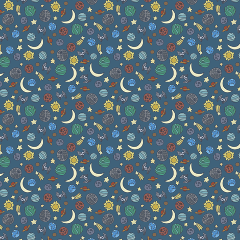 Space exploration fabric starryeyedartist spoonflower for 3d space fabric