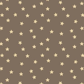 Star Print - Taupe