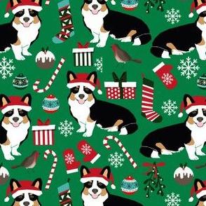 corgi christmas cute tri colored christmas corgis mittens candy cane xmas holiday xmas