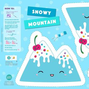 Snowy Mountain Ice Cream Pillow