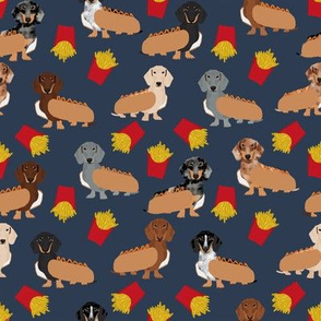 doxie hot dogs and fries cute dachshunds dogs fabric best doxie dog coats cute dogs food junk food