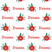 custom name fabric christmas fabric cute christmas design with cusotmized name