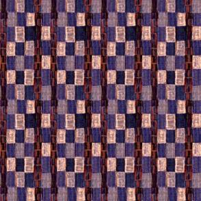 Interrupted Checkerboard (purple, cream, and rust)