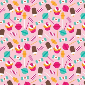 Colorful candy lollipop and cupcake sugar party XS